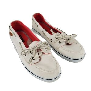 Sperry Topsider Angelfish White Boat Shoes Sz 9